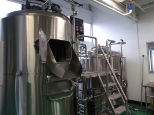 Darwin Brewing Company's shiny new 15bbl brewhouse.
