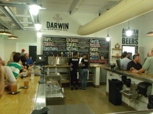 Darwin's tasting room pours forth a stream of Andean-influenced beers.