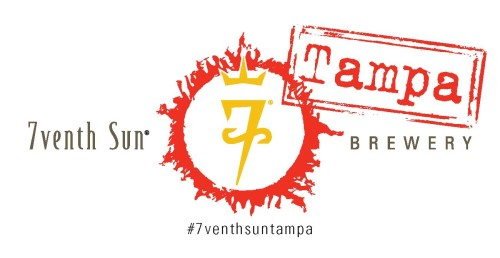The logo for the new 7venth Sun Brewery is similar to Dunedin with the Tampa stamp.