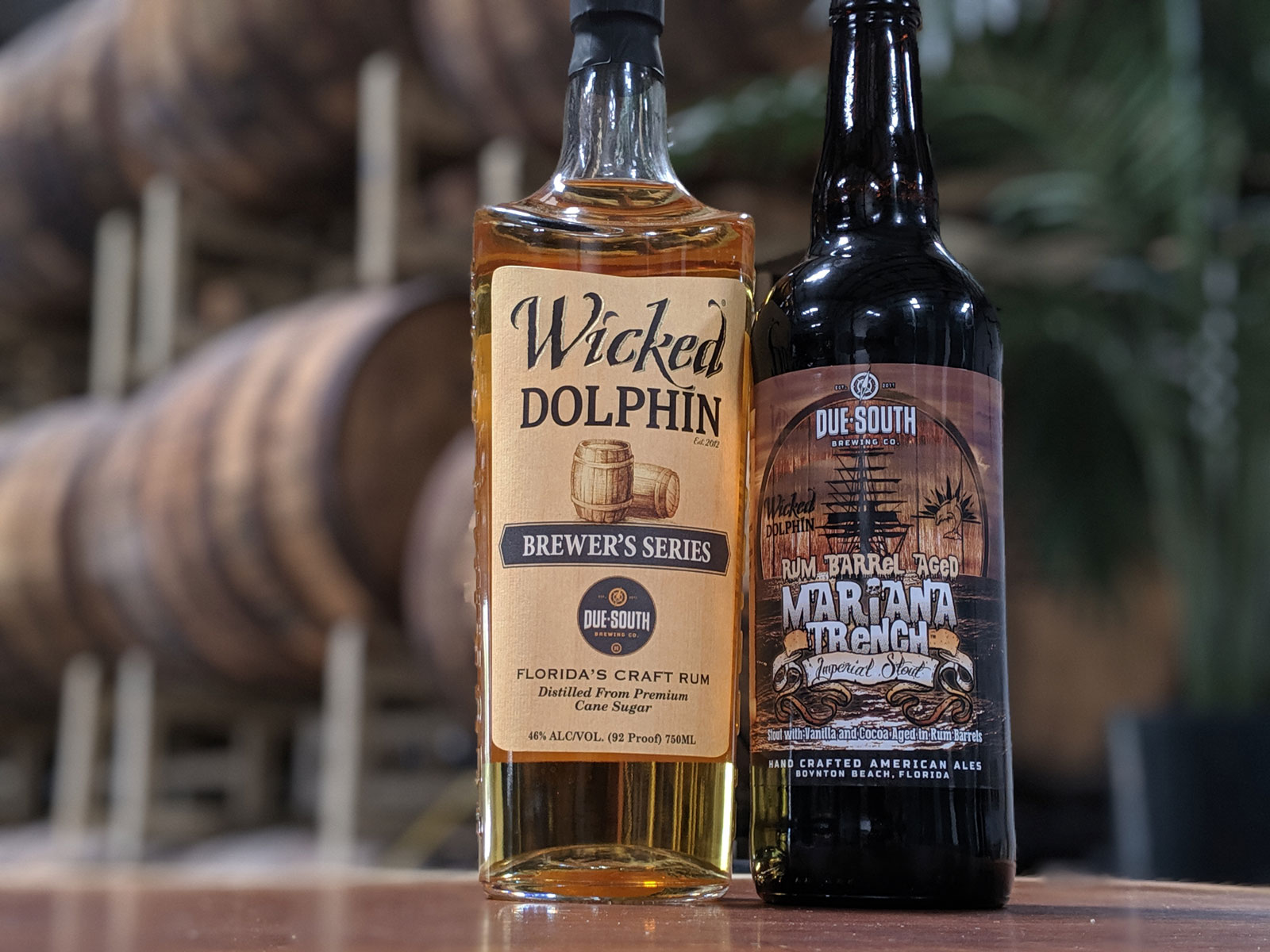 Due South Brewing and Wicked Dolphin Rum team up