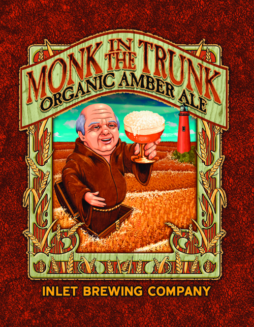 Monk in the Trunk Amber Ale label