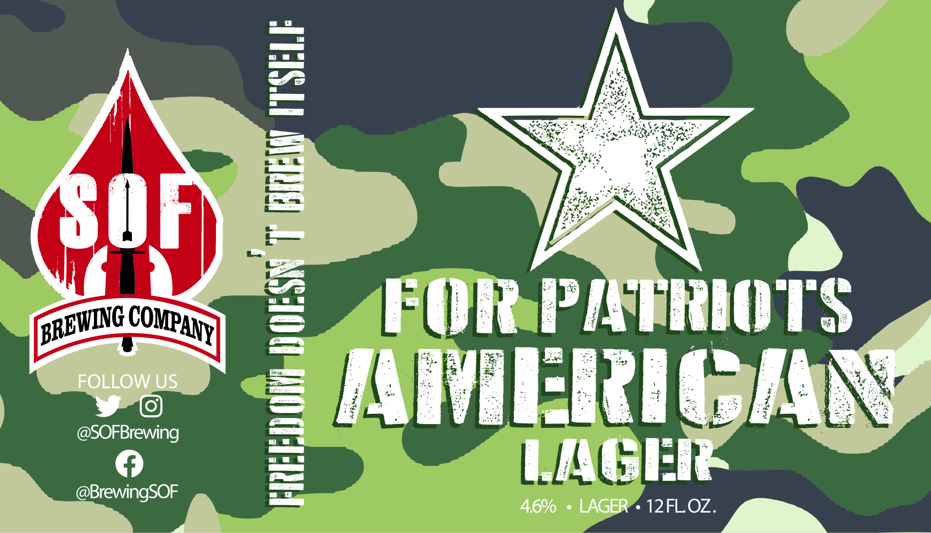 SOF Brewing For Patriots Lager