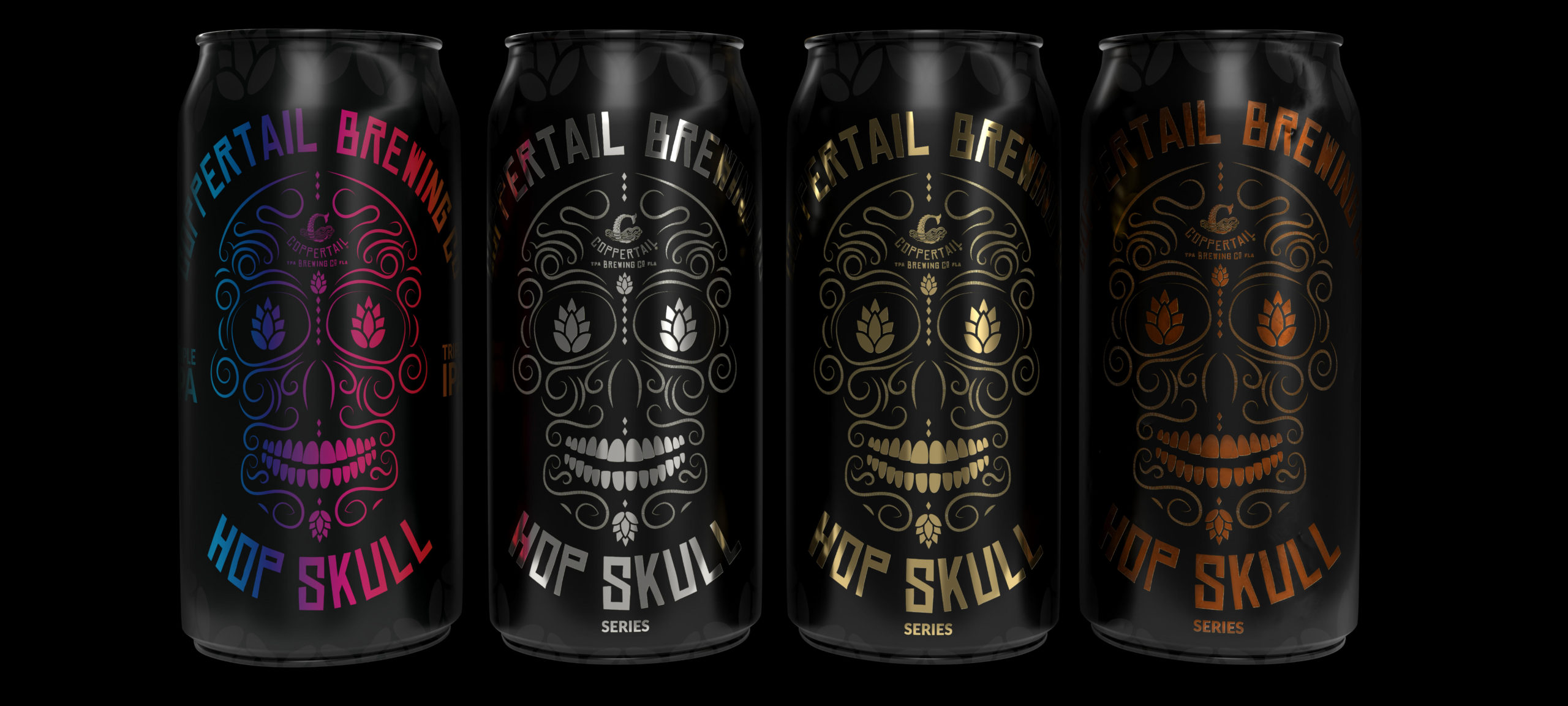 Coppertail Brewing Hop Skull Series Pics