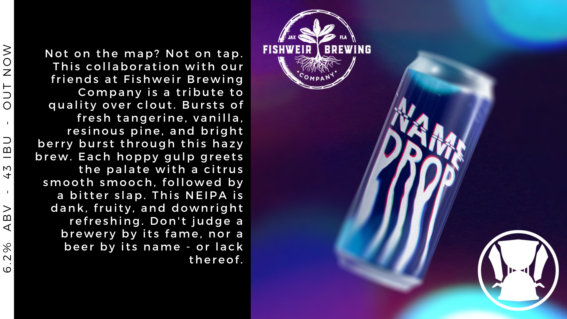 Hourglass Brewing and Fishweir Brewing collaboration Name Drop