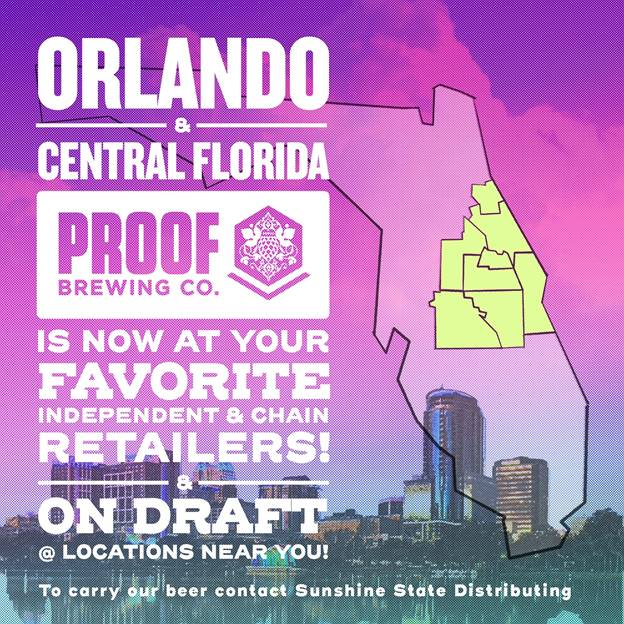 Proof Brewing now available in Orlando