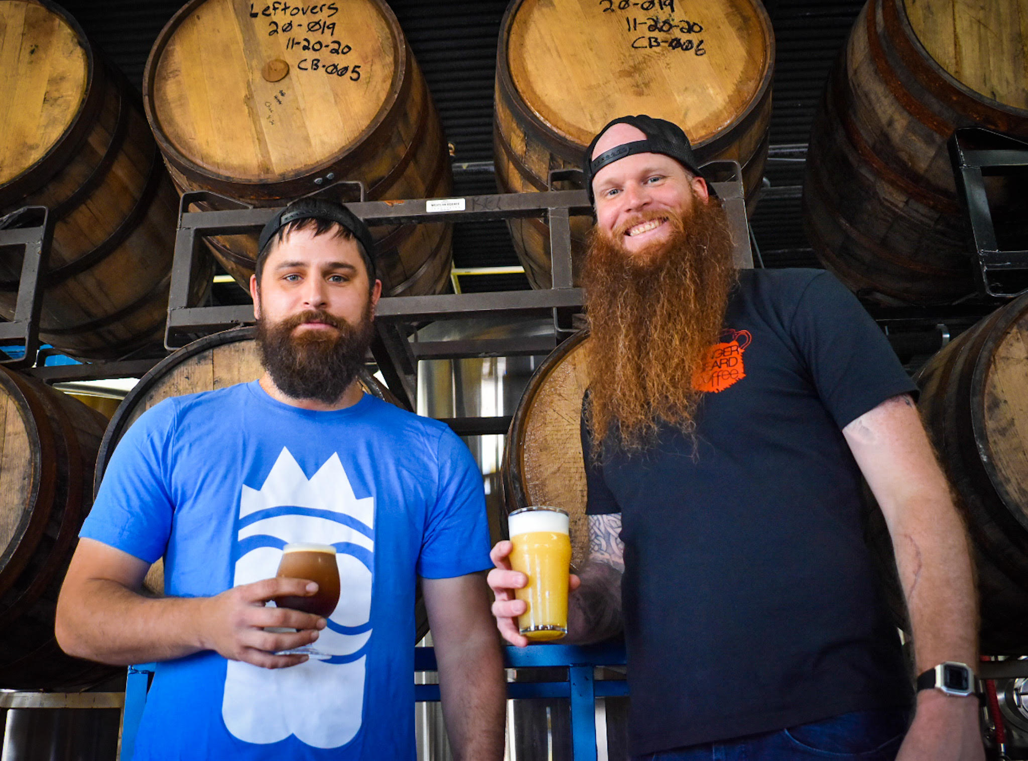 Magnanimous Coffee founder Derek and Magnanimous Brewing brewer Eric