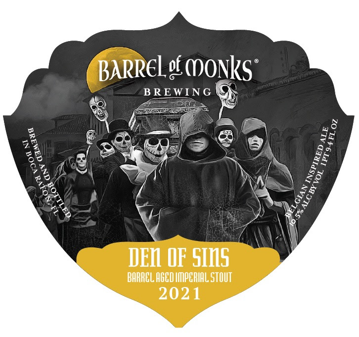 Barrel of Monks Den of Sins Barrel-Aged Imperial Stout
