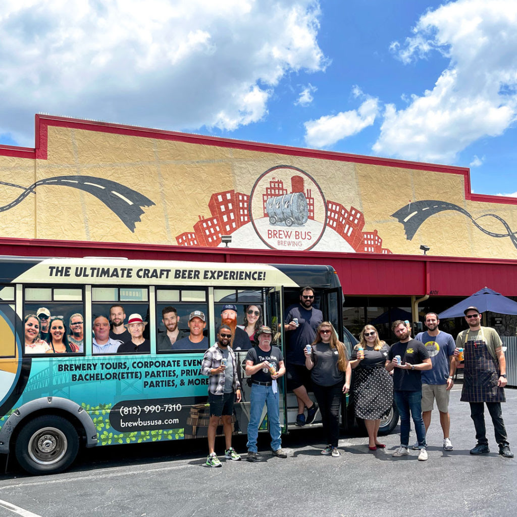 The staff of Brew Bus Brewing